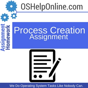 Process Creation Assignment Help