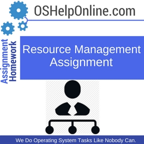 Resource Management Assignment Help