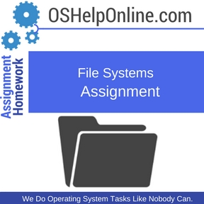 File Systems Assignment Help