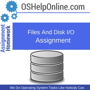 Files And Disk IO Assignment Help