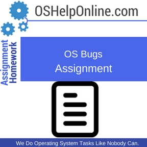 OS Bugs Assignment Help