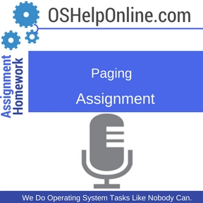 Paging Assignment Help